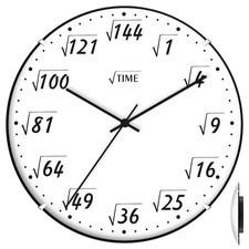 Zegar ścienny convex pod pierwiastkiem