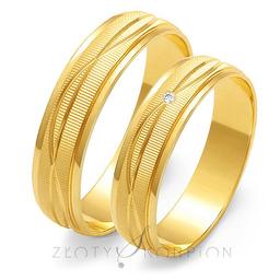 Obrączki ślubne Złoty Skorpion  wzór Au-O116