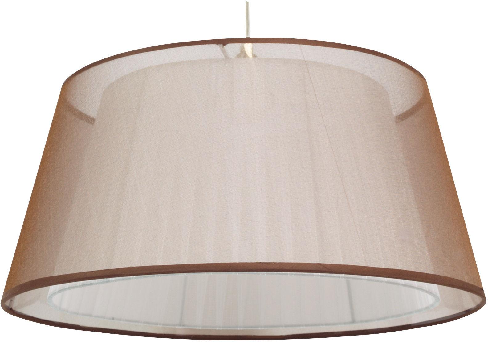 Candellux CHARLIE 31-24794 lampa wisząca abażur tasiemkowy brązowy 1X60W E27 45cm