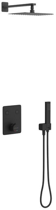 Excellent Krotos zestaw natryskowy termostatyczny czarny mat AREX.SET.8045BL