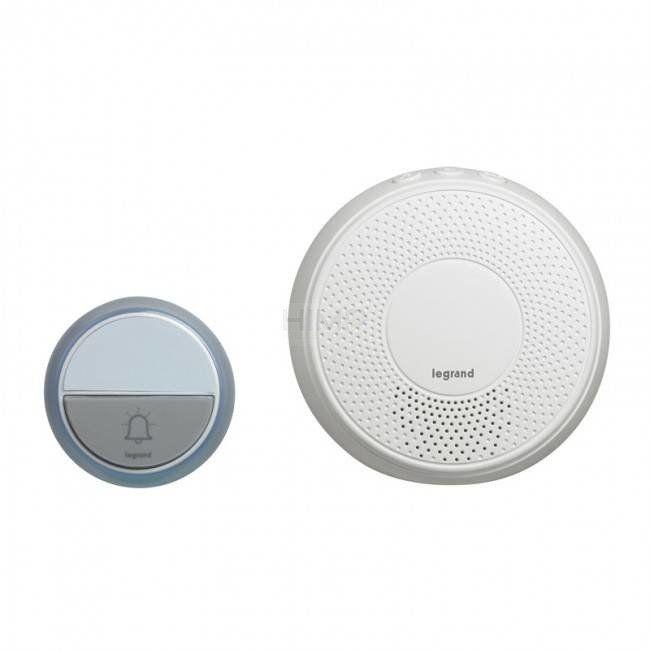 Dzwonek bezprzewodowy 100m 230V Comfort biały (zestaw odbiornik + nadajnik) Legrand 094254