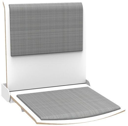 Straponten - naścienne siedzisko profilowane z oparciem (tapicerowane nakładki) składane automatyczne (TPS1AT) ALLHALL