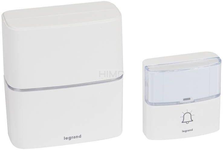 Dzwonek bezprzewodowy 200m Serenity biały (zestaw odbiornik + nadajnik) Legrand 094270