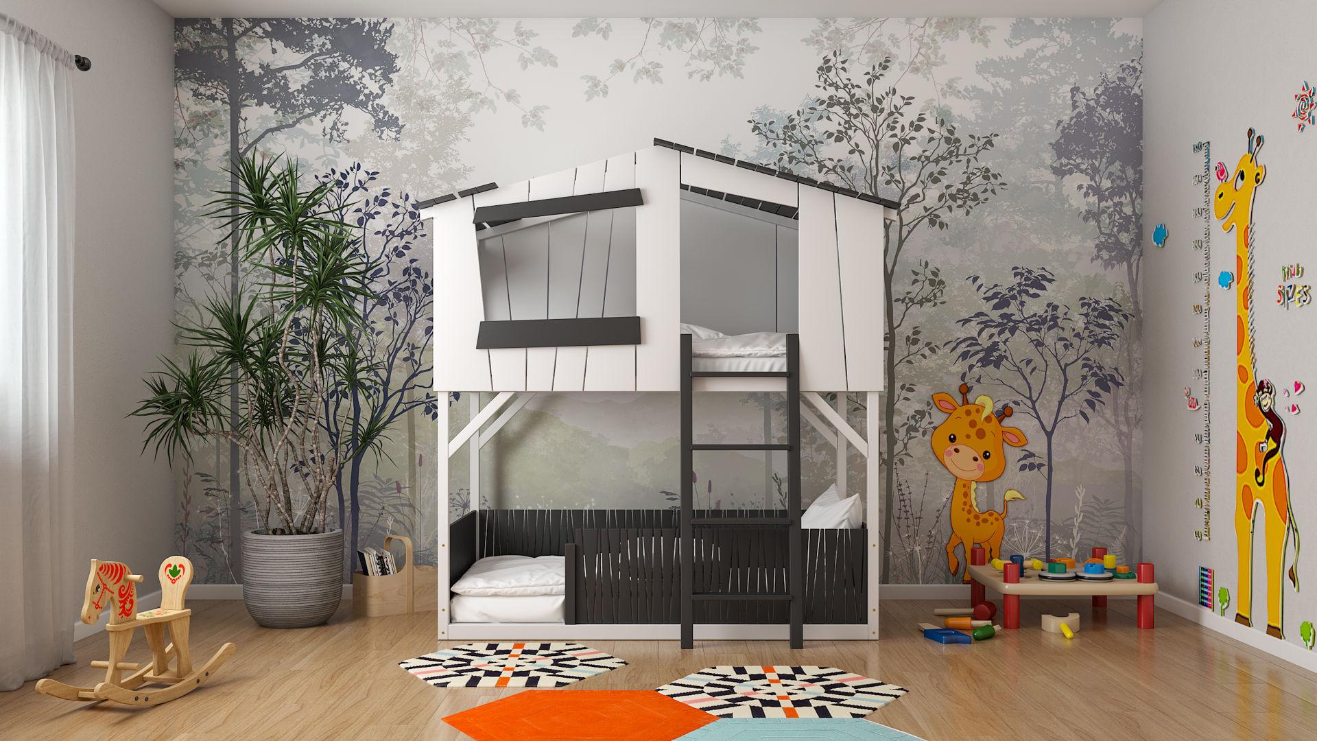 Łóżko piętrowe domek CODY 1