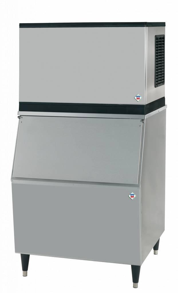 Kostkarka chłodzona powietrzem + zasobnik 1200W 200kg 762x82x(H)1571mm