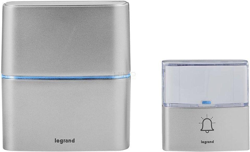 Dzwonek bezprzewodowy 200m Serenity aluminium (zestaw odbiornik + nadajnik) Legrand 094271