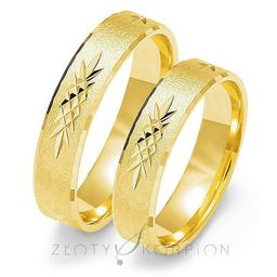 Obrączki ślubne Złoty Skorpion  wzór Au-O117