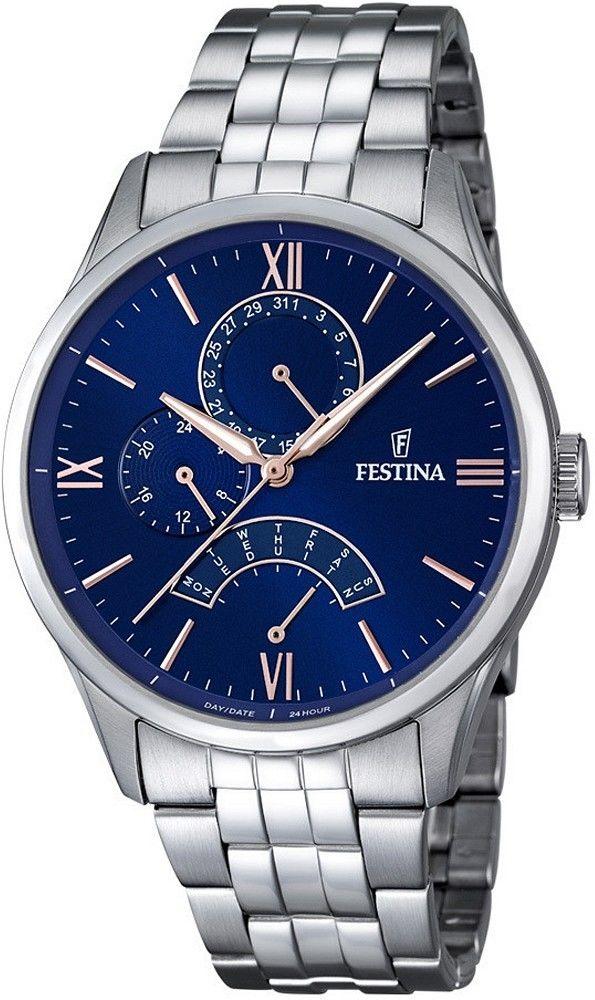 Zegarek Festina F16822-3 Retro - CENA DO NEGOCJACJI - DOSTAWA DHL GRATIS, KUPUJ BEZ RYZYKA - 100 dni na zwrot, możliwość wygrawerowania dowolnego tekstu.