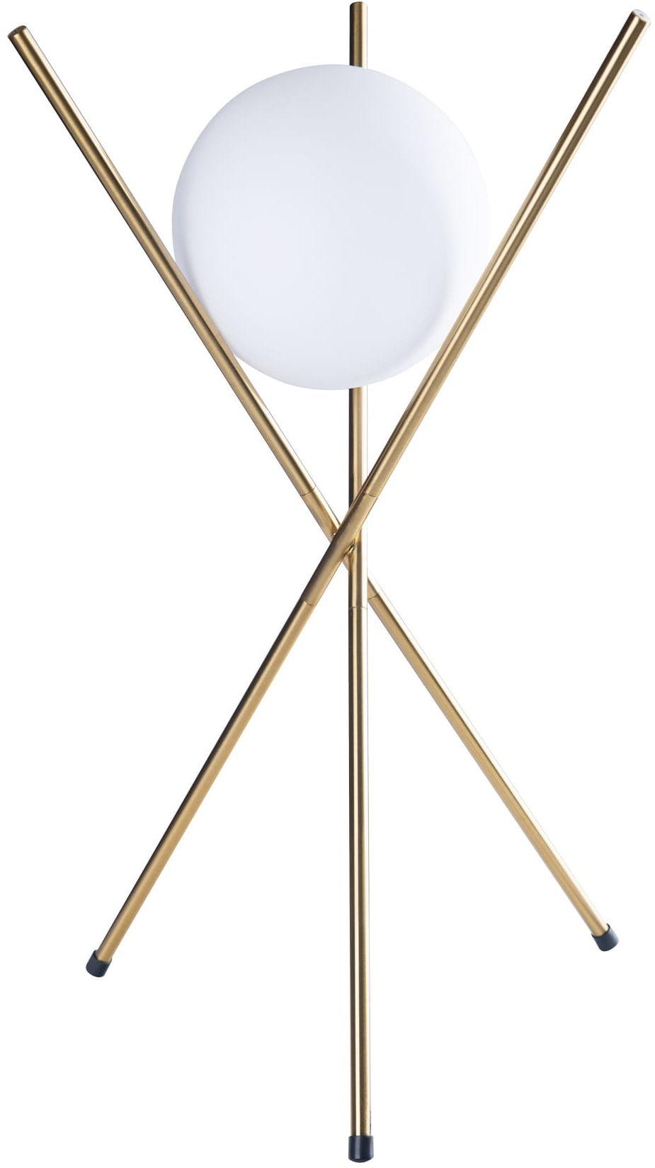 Lampa stołowa XENA T0044 MAXlight nowoczesna oprawa w kolorze mosiądzu