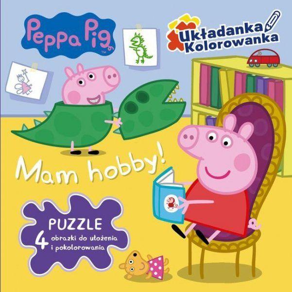 Świnka Peppa Układanka Kolorowanka Mam hobby (puzzle)