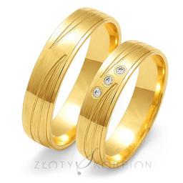 Obrączki ślubne Złoty Skorpion  wzór Au-O118