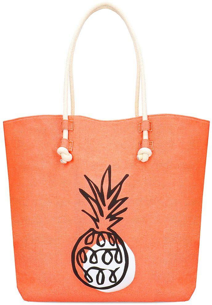 Paez Beach Bag - Torebka Damska - 1933147A6031520 - Pomarańczowy