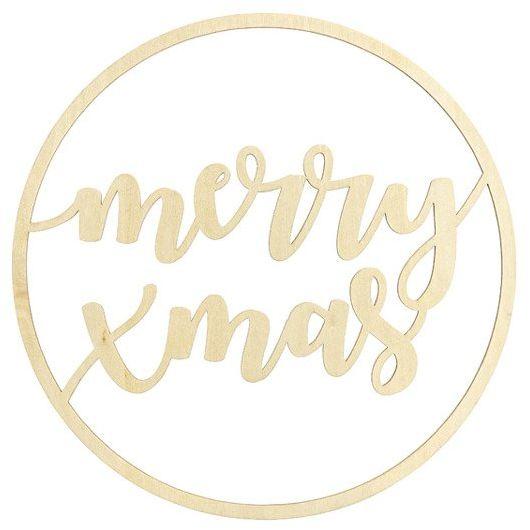 Drewniana zawieszka dekoracyjna Merry Xmas 28cm 1szt. ZDD3-100 - MERRY XMAS