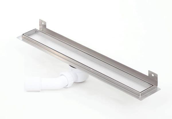 Kesmet Wall Silver Ceramic Tile odpływ ścienny 1000KWF_p1000mm (syfon plastikowy)