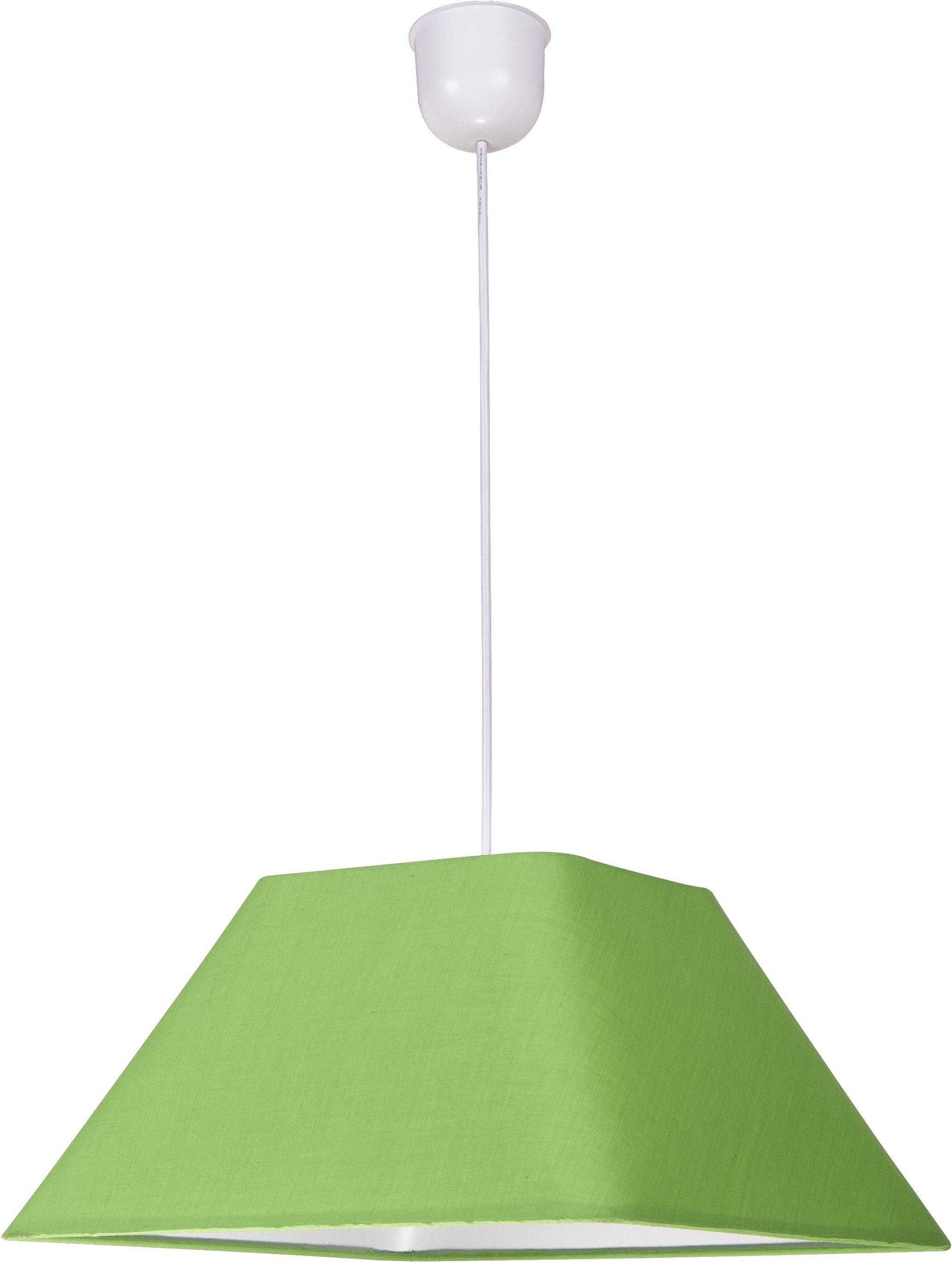 Candellux ROBIN 31-03263 lampa wisząca geometryczny kształt abażura z tkaniny zielonej 1X60W E27 35 cm