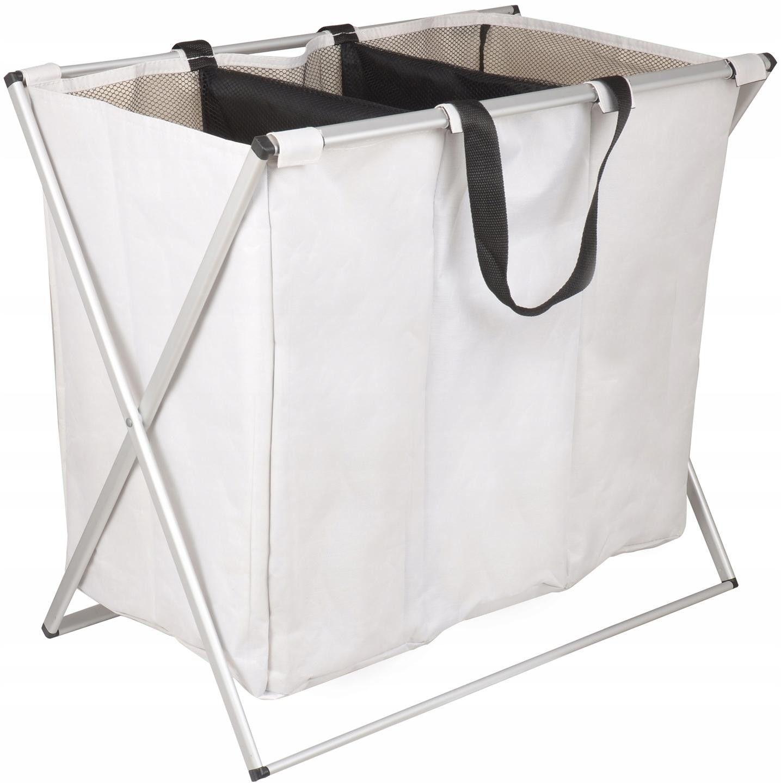 Yoka Home Kosz na pranie pojemnik składany organizer biały - Yoka CH.GABA-WHT