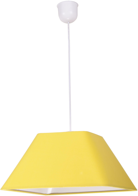 Candellux ROBIN 31-03270 lampa wisząca geometryczny kształt abażura z tkaniny żółtej 1X60W E27 35 cm