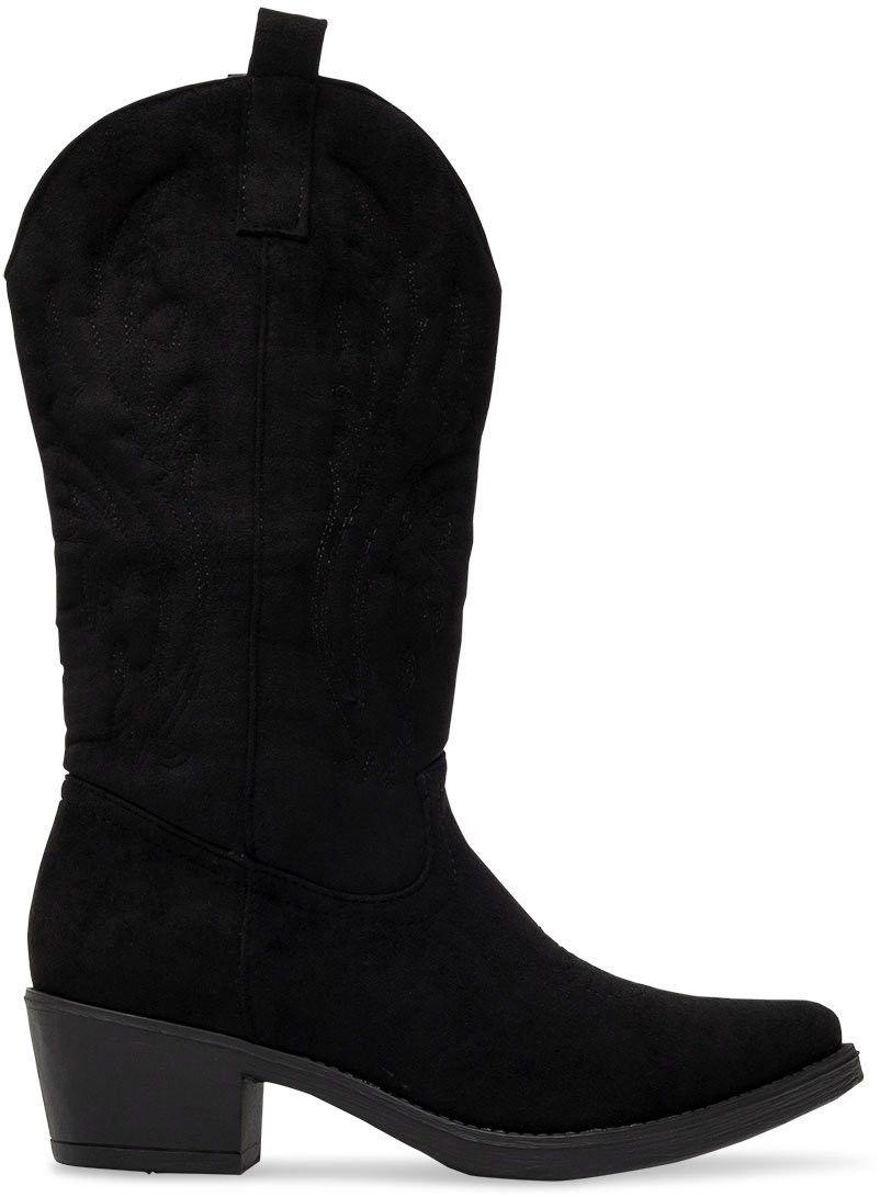 Wegańskie Kowbojki damskie Ideal Shoes MR-1881 Czarne