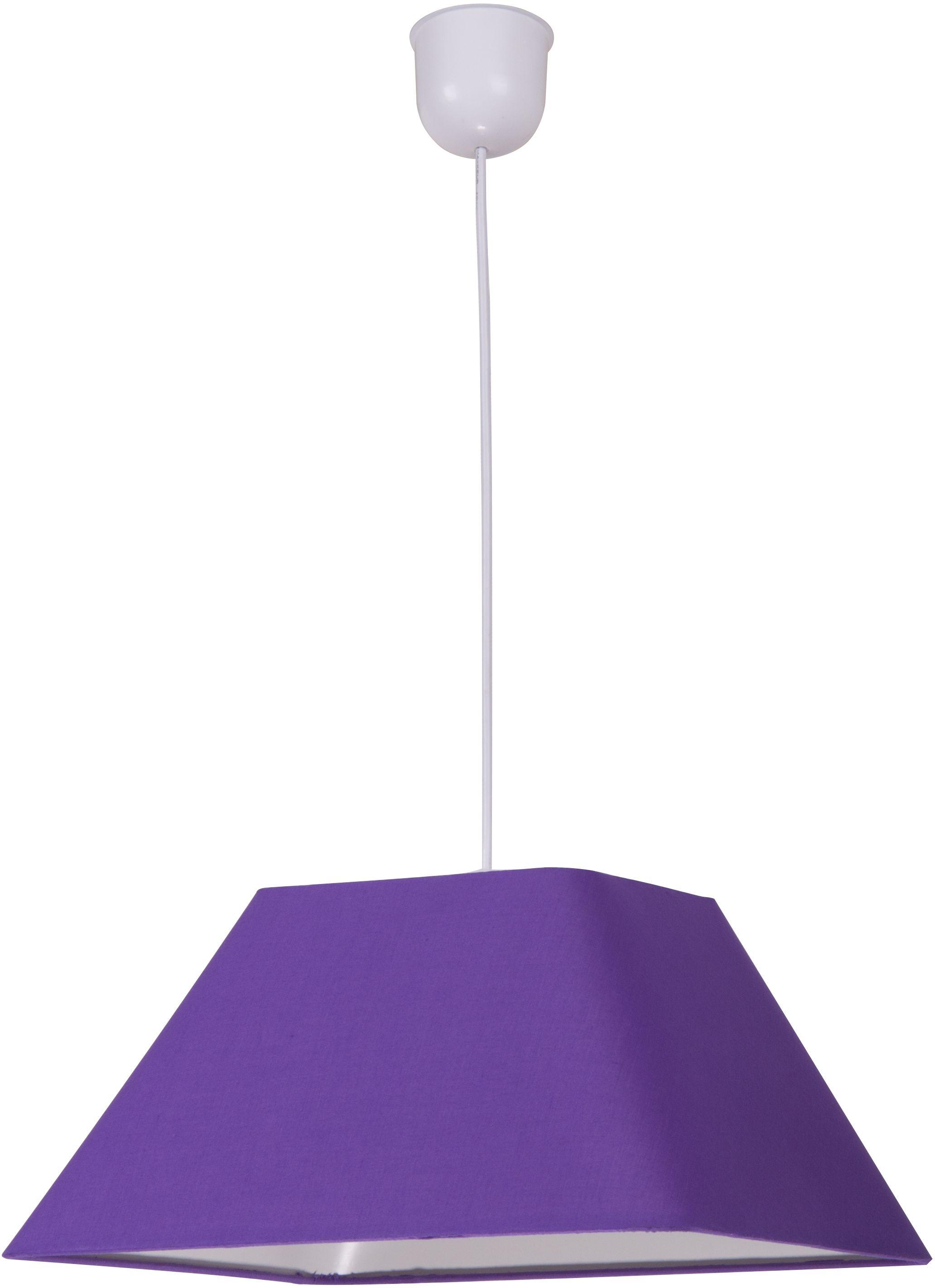 Candellux ROBIN 31-03294 lampa wisząca geometryczny kształt abażura z tkaniny fioletowej 1X60W E27 35 cm