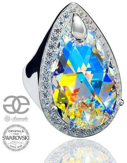 Kryształy SPECIAL PIERŚCIONEK AURORA ENCANTE SREBRO