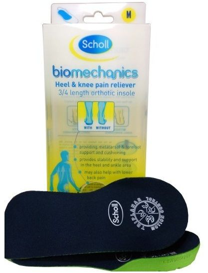Scholl Biomechanics 3/4 Heel and Knee Pain Reliever wkładki do butów 2szt