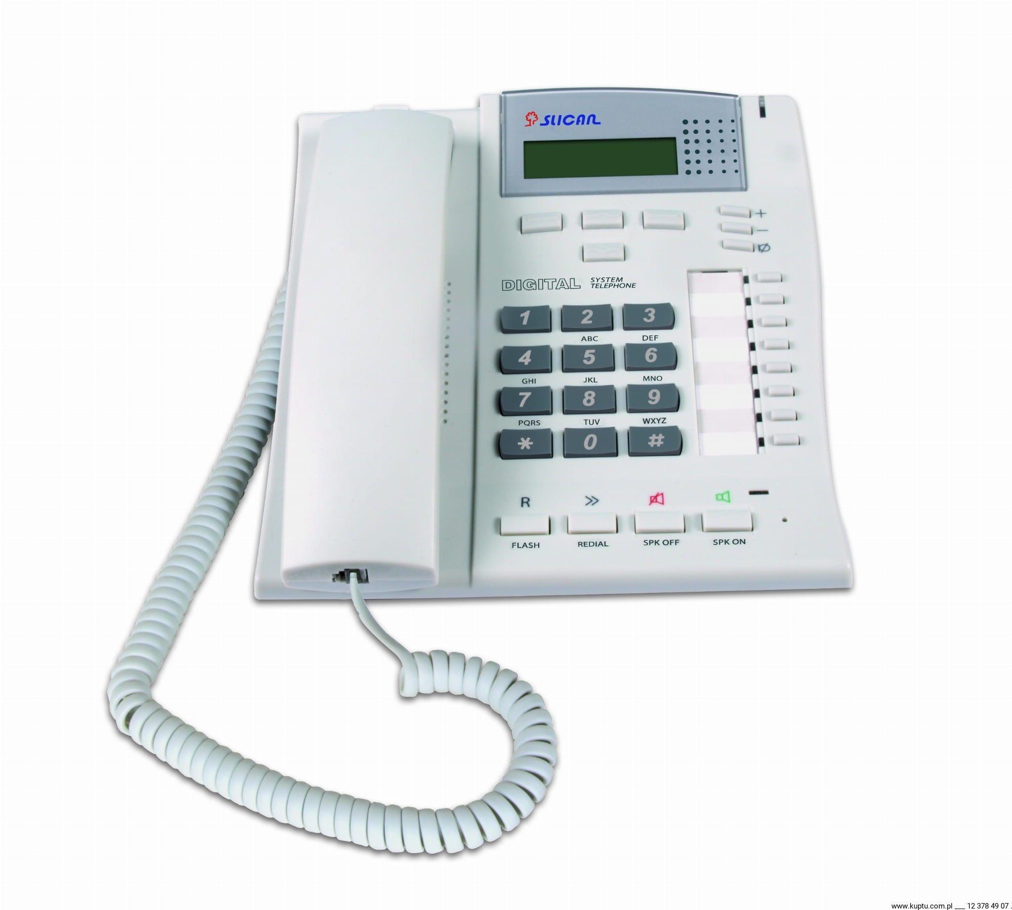 CTS-102.CL telefon systemowy Slican (wyświetlacz 4-liniowy)