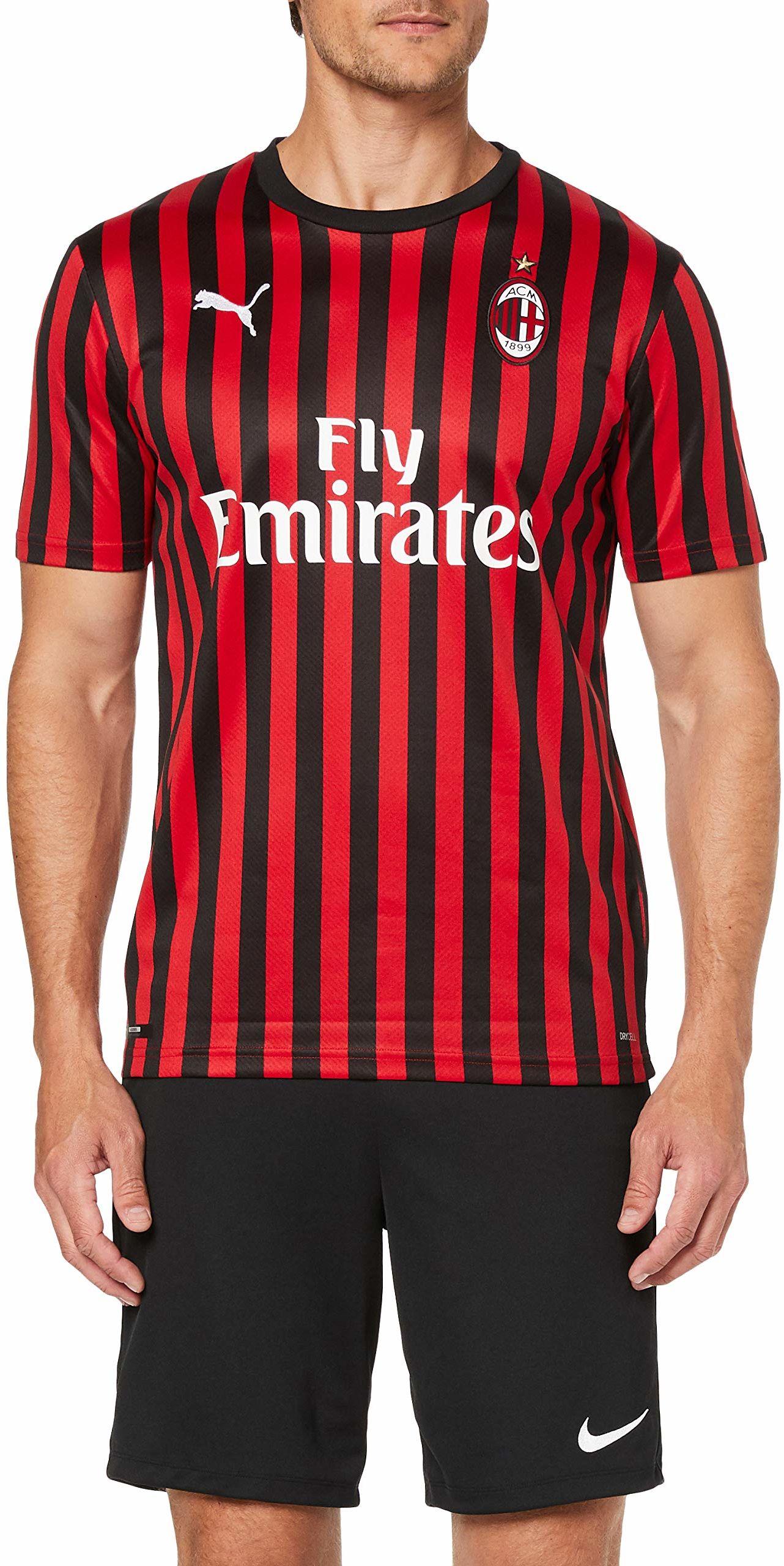 PUMA męska koszulka Ac Milan 1899 Home Shirt Repl. Top2 Player czerwony Tango Red/Puma Black L