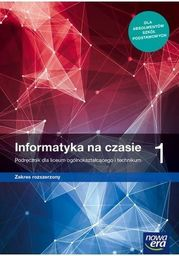 Informatyka na czasie 1 Podręcznik ZAKŁADKA DO KSIĄŻEK GRATIS DO KAŻDEGO ZAMÓWIENIA