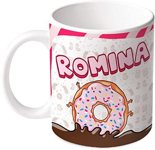 M.M. Group Filiżanka z imieniem i znaczeniem Romina, 11 Ounces, ceramika, wielokolorowa