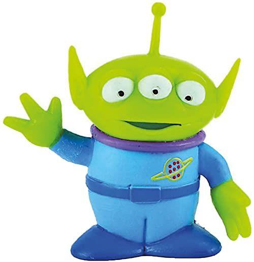 Bullyland 12765 - figurka do zabawy, Disney Pixar Toy Story, Alien ok. 6,3 cm, idealna jako figurka na tort, wierna szczegółów, bez PCW, wspaniały prezent dla dzieci do fantazyjnej zabawy