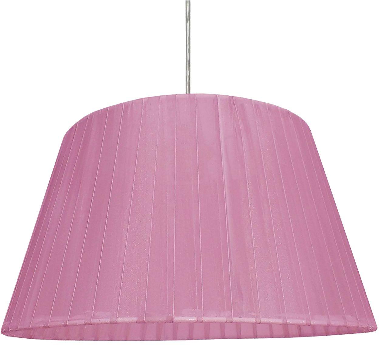 Candellux TIZIANO 31-27115 lampa wisząca abażur stożkowy z tkaniny fioletowej 1X60W E27 37 cm