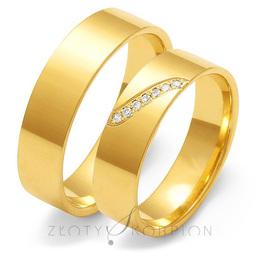 Obrączki ślubne Złoty Skorpion  wzór Au-O120