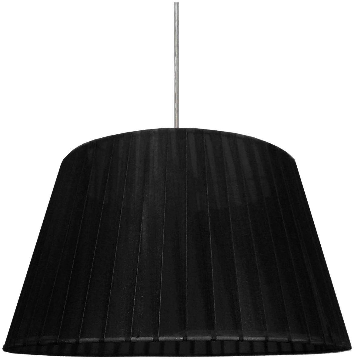 Candellux TIZIANO 31-27122 lampa wisząca abażur stożkowy z tkaniny czarnej 1X60W E27 37 cm