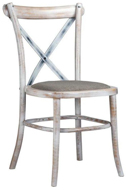 Krzesło kuchenne Arles biała patyna Domino