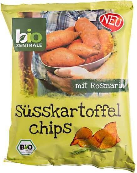 Chipsy z batatów z rozmarynem bez glutenu 75g EKO Bio-Zentrale