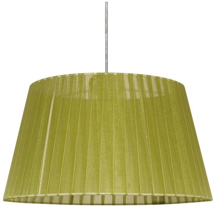 Candellux TIZIANO 31-27153 lampa wisząca abażur stożkowy z tkaniny pistacjowej 1X60W E27 37 cm