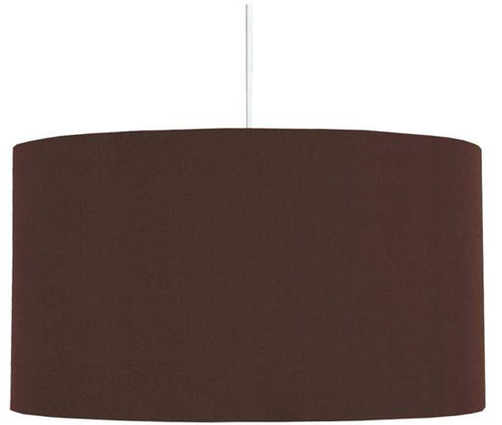 Candellux ONDA 31-06127 lampa wisząca abażur tkanina brązowa 1X60W E27 40 cm