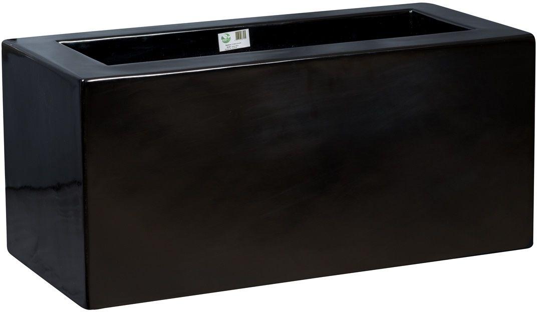 Donica z włókna szklanego D734B czarny połysk