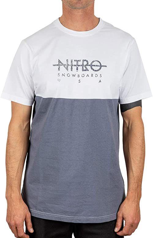 Nitro Unisex T-shirt Block Tee''20 wielokolorowa szary (Stone Grey) S