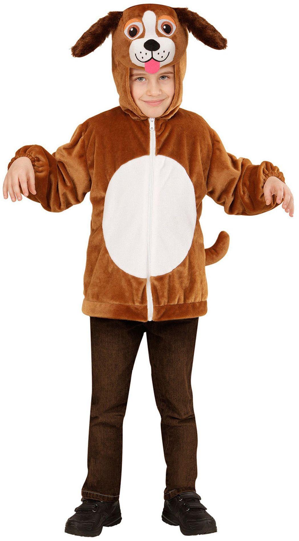 Widmann 97472 - kostium dziecięcy pies z pluszu, kurtka z kapturem i maską