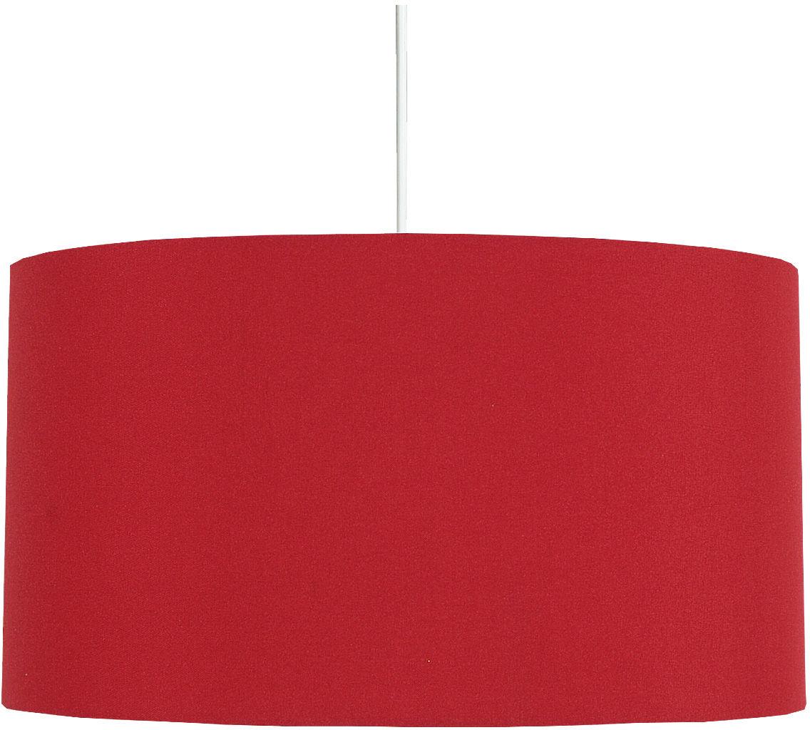 Candellux ONDA 31-06158 lampa wisząca abażur tkanina czerwona 1X60W E27 40 cm
