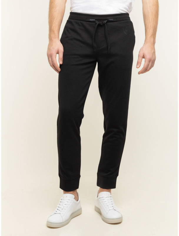 Armani Exchange Spodnie dresowe 8NZP91 Z9N1Z 1200 Czarny Regular Fit