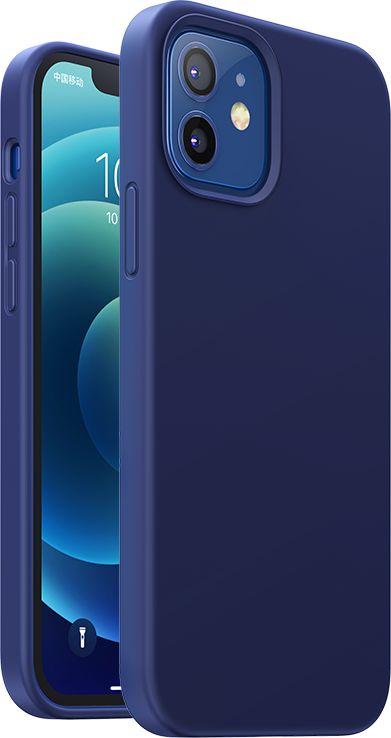 Ugreen Protective Silicone Case gumowe elastyczne silikonowe etui pokrowiec iPhone 12 mini granatowy