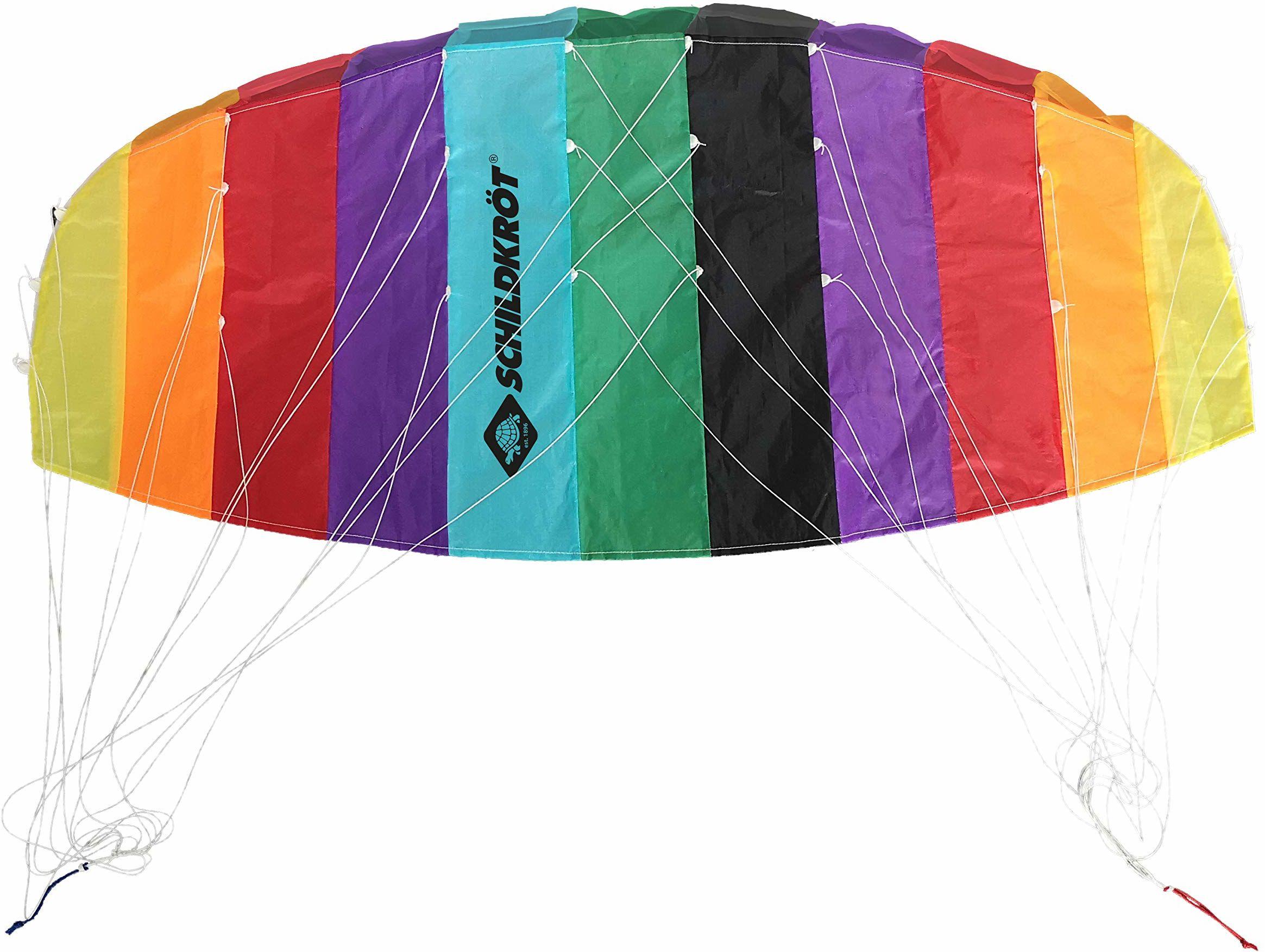 Schildkröt 970450 Dual Line Sport Kite, dwulniana mata na kierownicę, w zestawie 25 kP linki poliestrowe, 2 x 25 m na wietrzenie ze szlufkami, 3-6 Beaufort, 1.3