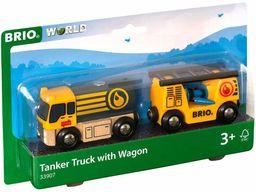 BRIO 63390700 Cysterna Z Przyczepą (63390700) Bezpieczna Zabawka Dla Dzieci Powyżej 3 Lat