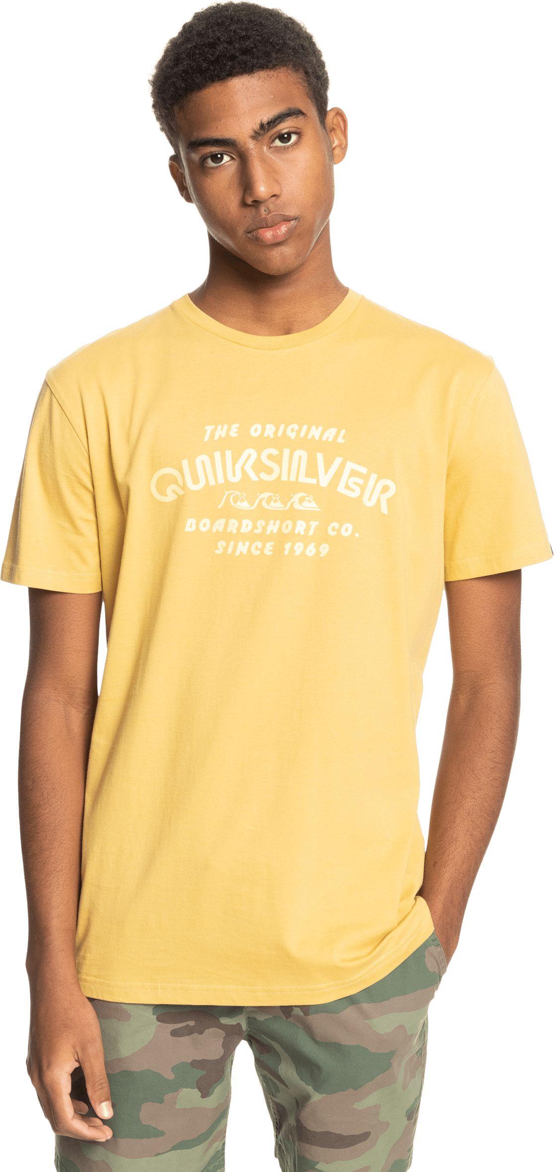 t-shirt męski QUIKSILVER WIDER MILE TEE Rattan - YHP0
