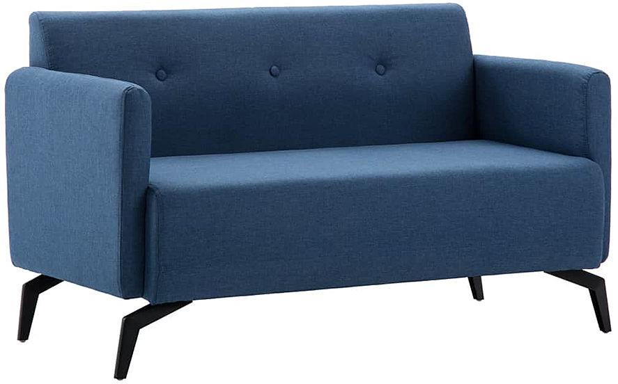 Stylowa 2-osobowa sofa Rivena 2X - niebieska