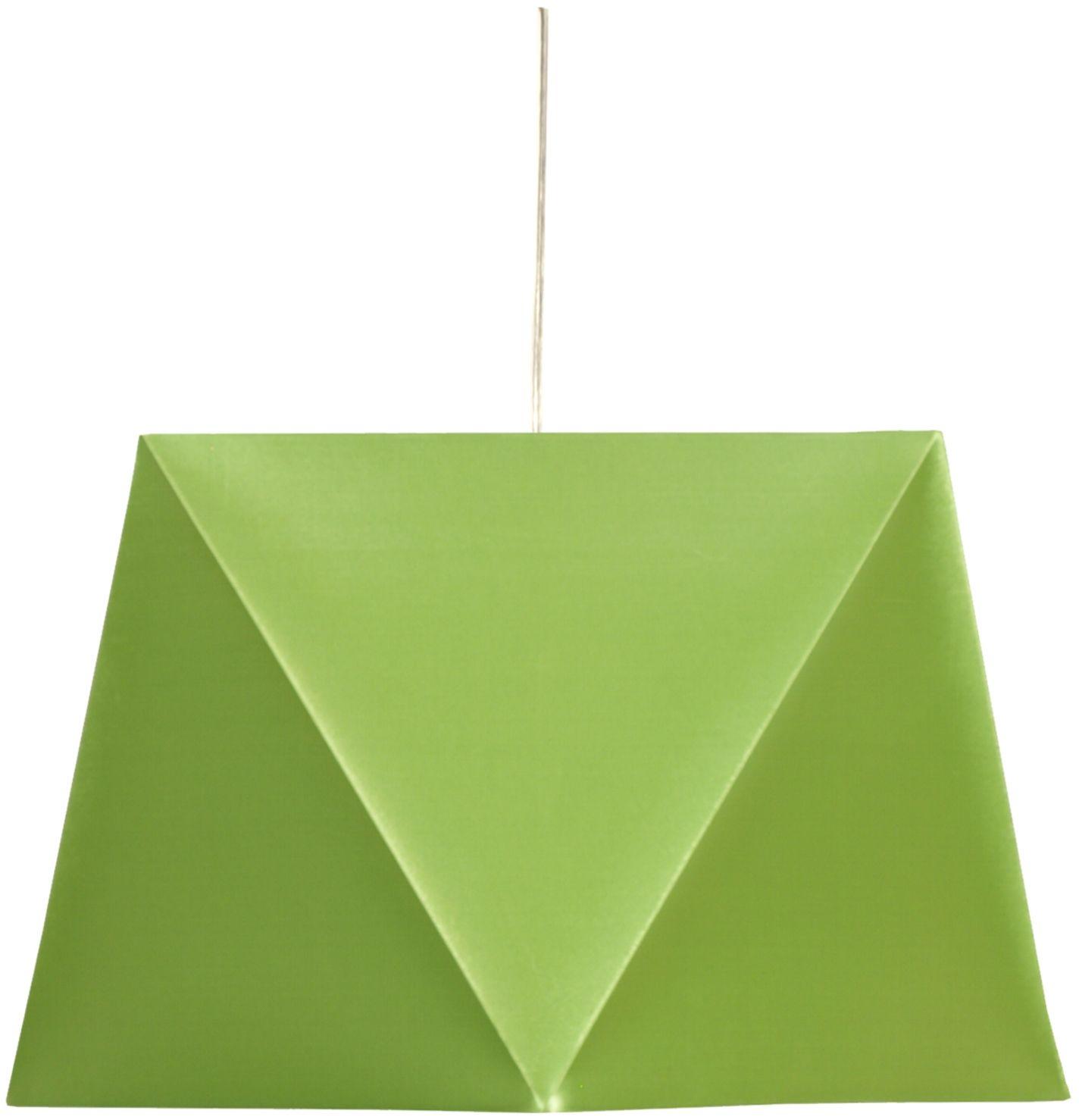 Candellux HEXAGEN 31-03614 lampa wisząca geometryczny kształt abażura zielony 1X60W E27 42 cm
