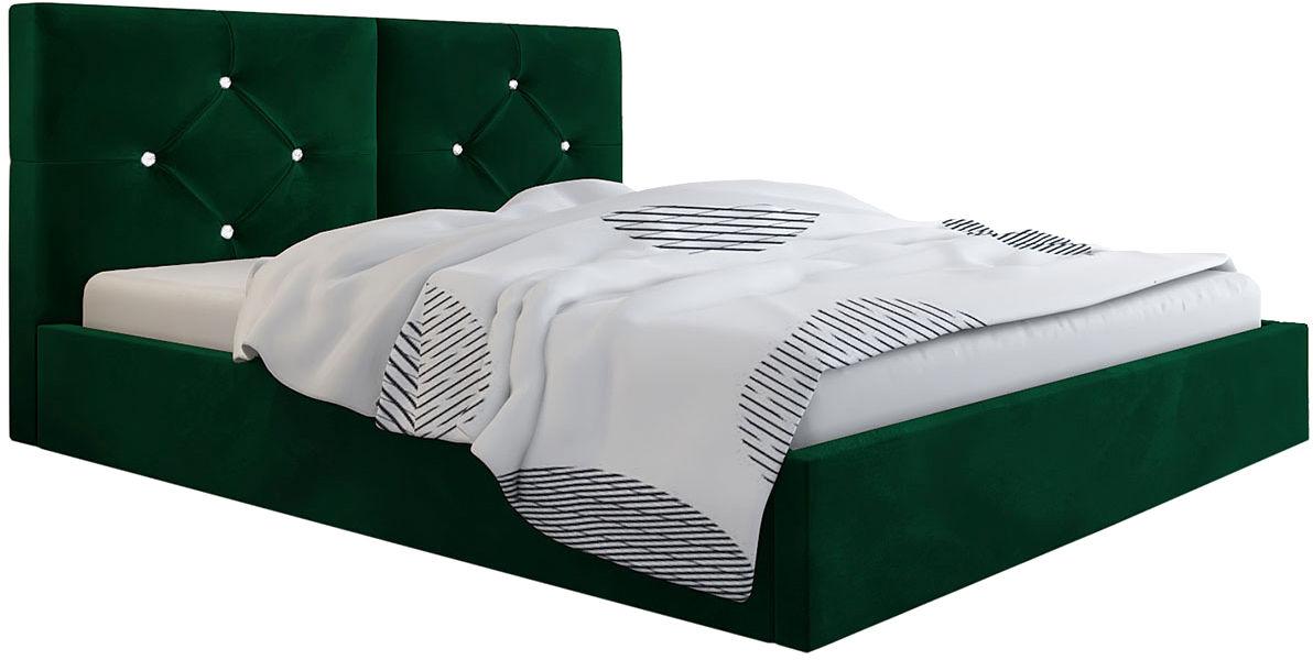 Pikowane łóżko dwuosobowe 140x200 Celini 3X - 48 kolorów