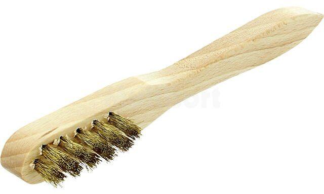 Narzędzie WELLER T0058725761 szczotka drut mosiężny rękojeść drewno